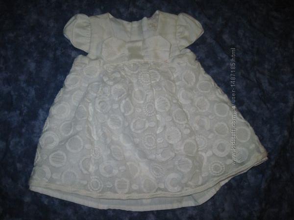 Нарядное платье для малышки до 3 мес. ,
