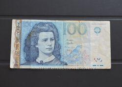 100 Krooni Эстонская банкнота. Эстония 100 крон 1999 г