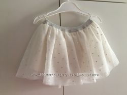 Юбка для девочки C&A фатиновая на подкладе белая