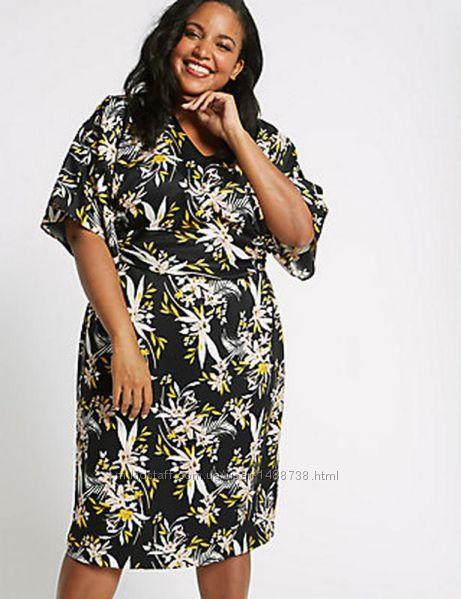 Красиве літнє плаття в квітковий принт m&s р. 5258