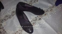 Шкіряні балетки-туфлі