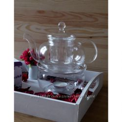 Заварник  чайник для чая стеклянный. Объем 600, 800, 1000 и 1200 мл.