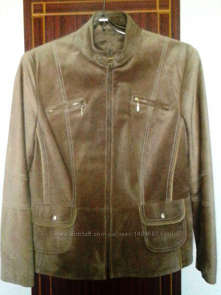 GERRY WEBER  Шикарная куртка, натуральный велюр.