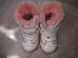 Кожаные зимние сапожки MxM для малышки 23 размер