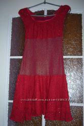 Красное выпускное платье на ткань, перешивку