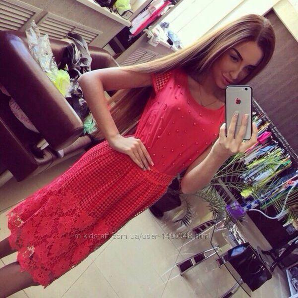 Платье шикарное с жемчугом. Размер М-Л.