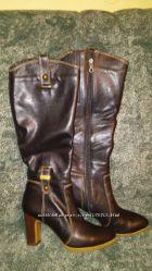 Зимние кожаные сапоги Vicino, размер 38 , маломерят