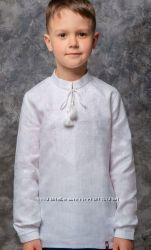 вишиті сорочки для хлопчиків на білому льоні від 86 до 152см 39af7c46673fd
