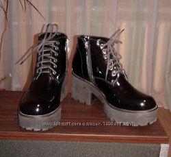 Ботинки - туфли натуральная лакированная кожа