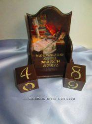Настольный вечный календарь Библиотека