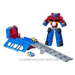 Трансформеры большой гоночный комплект Transformers Оптимус Прайм 38 см