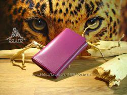 Женский кошелек из натуральной кожи сиреневого цвета