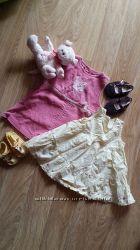 Два фирменных платья для девочки 3-6 мес.