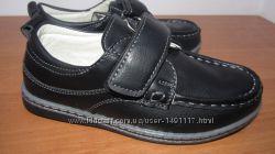 B&G новые школьные мокасины туфли туфельки для мальчика 27-30р. 16, 5-18, 5