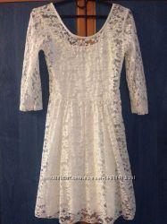 Платье выпускное, вечернее, гипюр