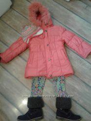 Куртка зимняя на девочку 6-7лет