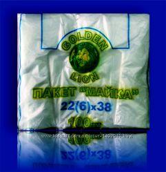 Полиэтиленовые пакеты- майка 22х38