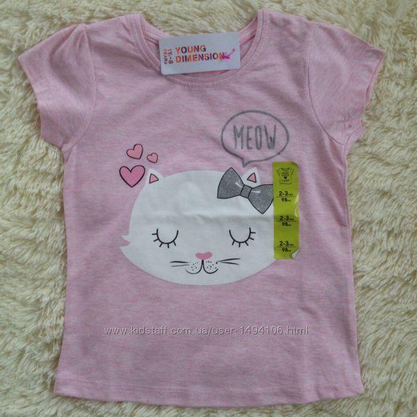 для девочек на 2-3 года футболки, Primark