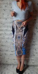 Обалденный топ в рубчик от New Look в серо-голубом цвете
