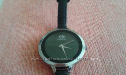Оригинальные брендовые женские часы Calvin Klein на кожаном ремешке