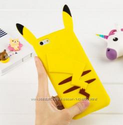 Силиконовый чехол Покемон 3D для IPhone 5 5S 6 6S Желтый