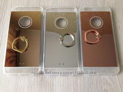 Зеркальные силиконовые чехлы для iphone 6 6S с кольцом