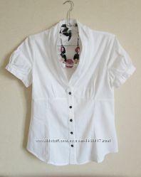 Блуза летняя белая хлопок Манго Mango