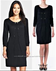 Платье-свитер Tahari с рукавами 34 в деловом стиле usa m