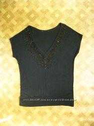 красивая летняя кофта, футболка с паетками - Debenhams - 46eur - наш 50-52р