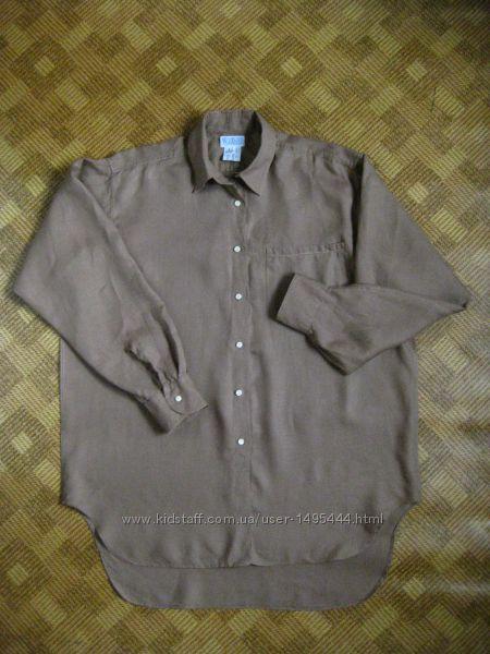 мужская рубашка - лён - Workshop - размер L