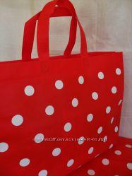 Стильная сумка красная в горох на пляж море отдых горошек подарок 8 Марта