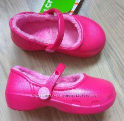 утепленные туфли балетка тапочки Crocs, размер С8