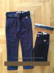 Коттоновые брюки на флисе для мальчиков 98-104 Венгрия