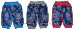 Бриджи для девочек комбинированные джинс и трикотаж 104-122