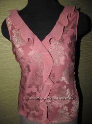 Шелковая блузка без рукавов Monsoon EUR 38
