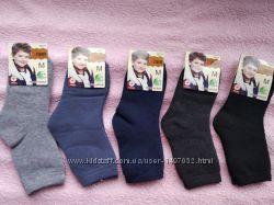 Носки махровые на мальчика однотонные размер 21-31