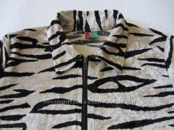 Кофта велюровая тигровая