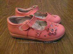 Кожаные туфли на девочку стелька 17, 5 см