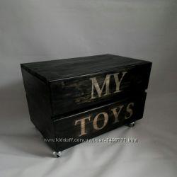 Дизайнерский ящик для игрушек