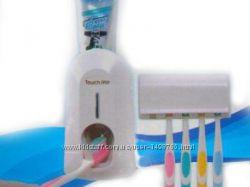 Подставка для зубных щеток с выжимателем для зубной пасты