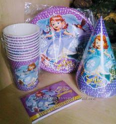 Набор посуды Принцесса София, декор для праздника