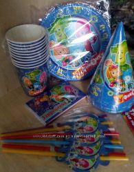 Набор посуды Фиксики, декор для праздника