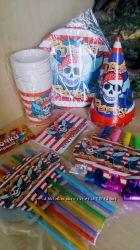 Набор посуды Пираты, декор для праздника