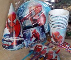 Посуда для праздника Человек паук