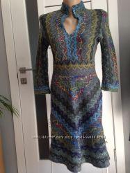 Тёплое платье в стиле этно Ручная Работа