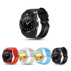 Смарт-часы телефон Smart Watch V8 Черные, Белые, Красные, Голубые, Серебро