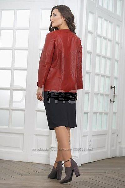 Куртка натуральная кожа, бордовая, vera pelle, италия