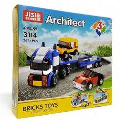Конструктор Architect Decool 3114 JISI Bricks 3v1 ТягачКранБуксир 264 д