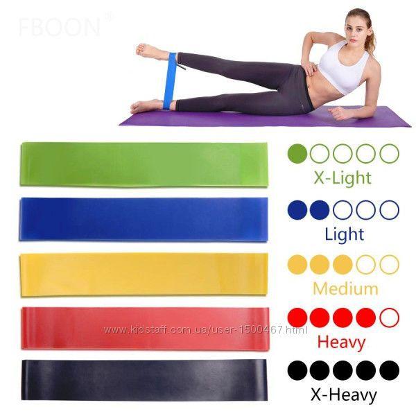 Резинки для фитнеса  спорта Эспандер лента Резиновые петли Ног набор 5штук