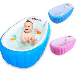 Надувная детская ванночка с насосом 98X65X28 см Intime Baby Bath Tub